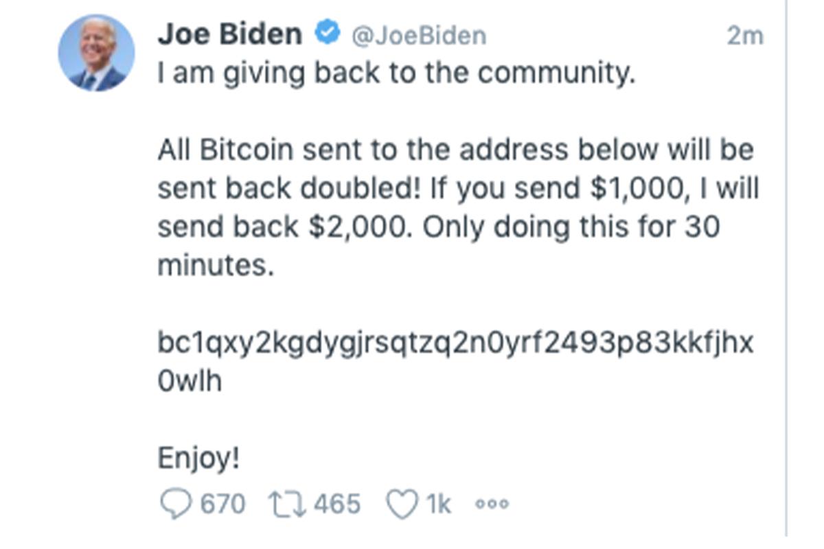 hacked, Twitter, Joe Biden