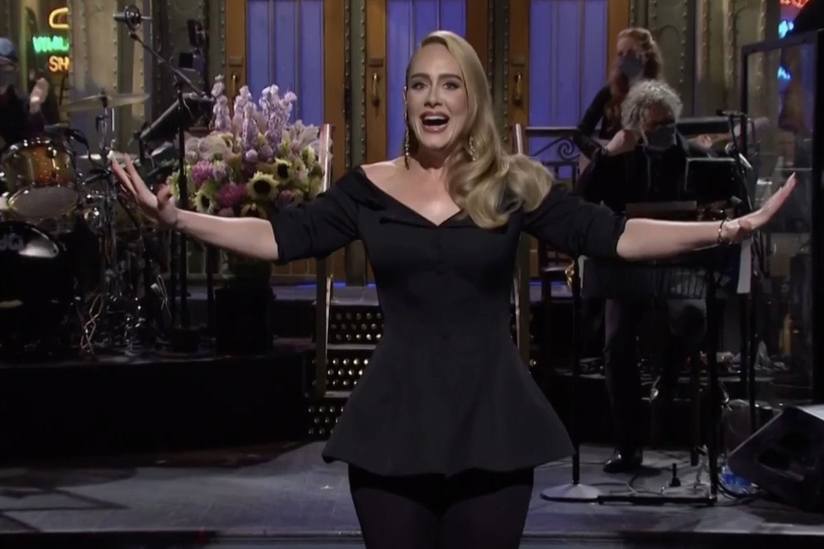 Adele shows off weight loss on Saturday Night Live