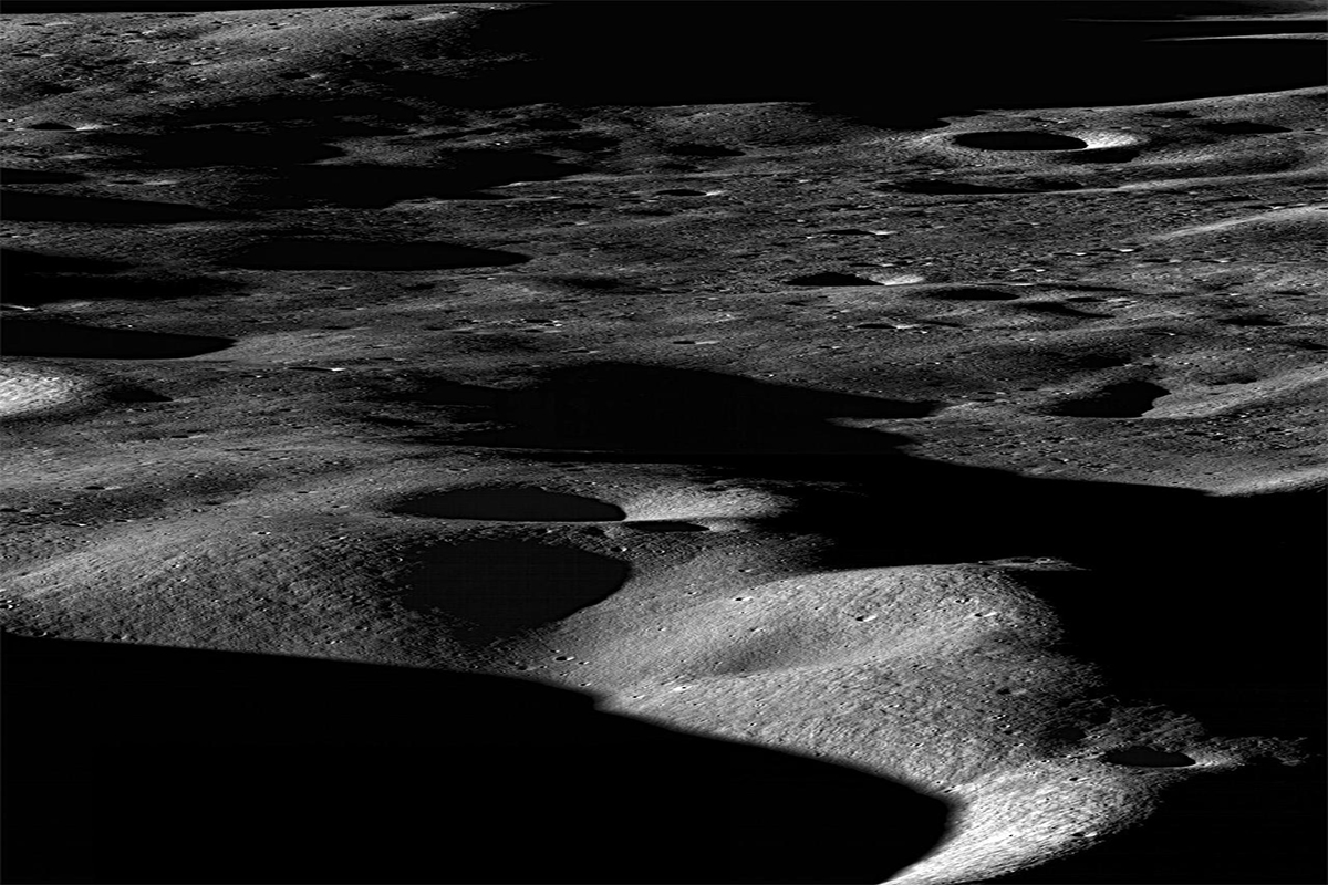 water, moon surface