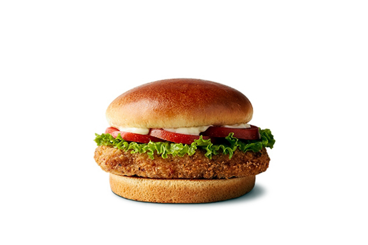 McDonald's, crispy chicken sandwich